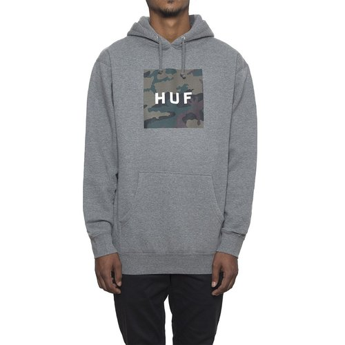 MUTED MILITARY BOX LOGO PULLOVERGREY HEATHER