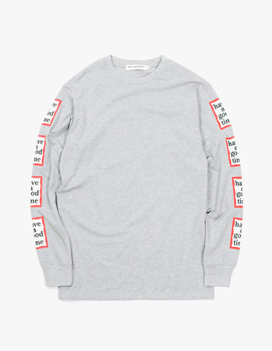 ARM FRAME L/S TEEHEATHER GREY