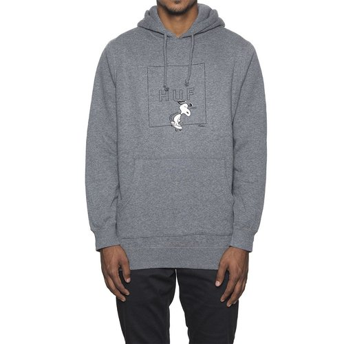 허프SNOOPY BOX LOGO HOODGREY HEATHER