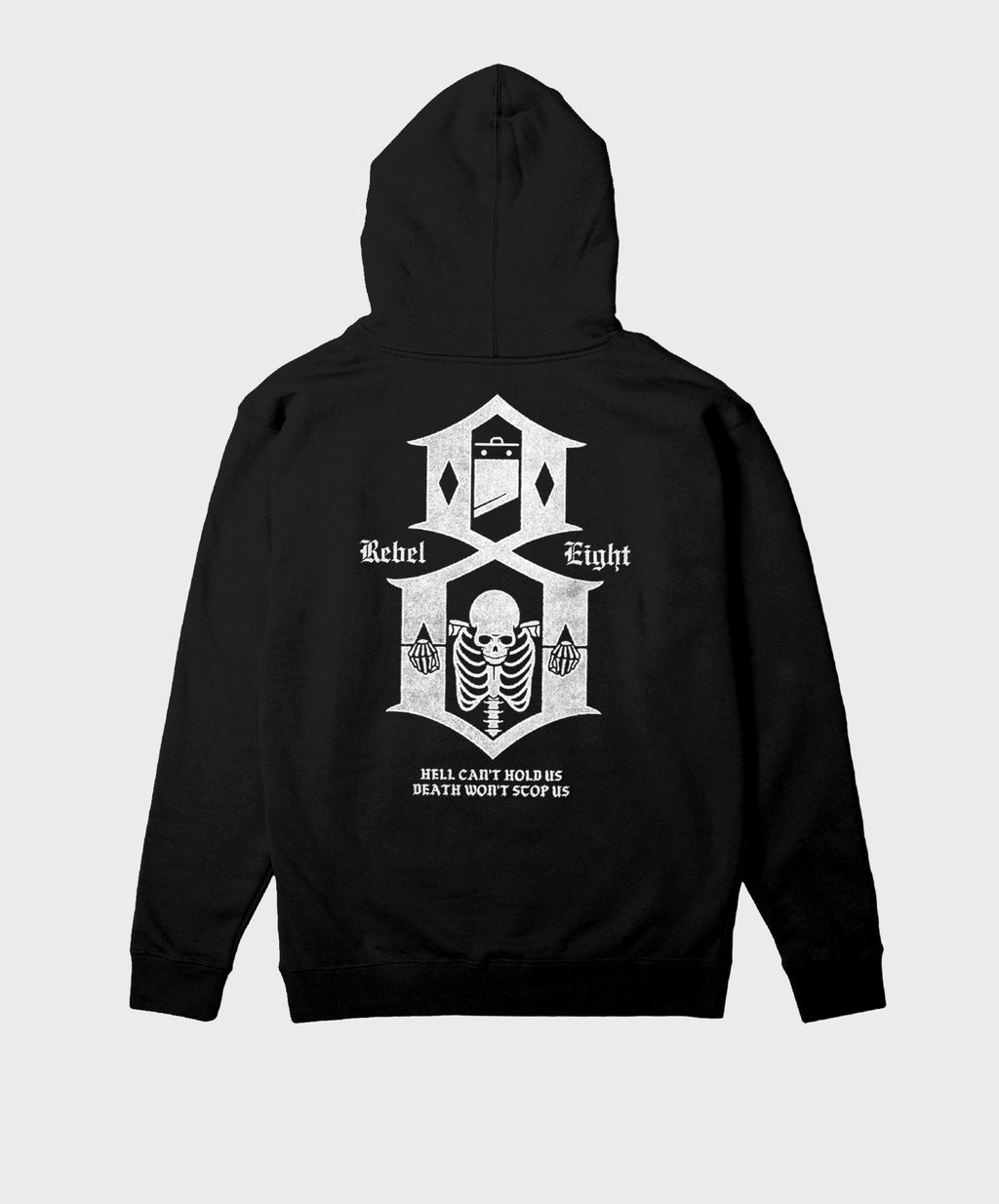 HELL CAN'T HOLD US ZIP-UP HOODIEBLACK
