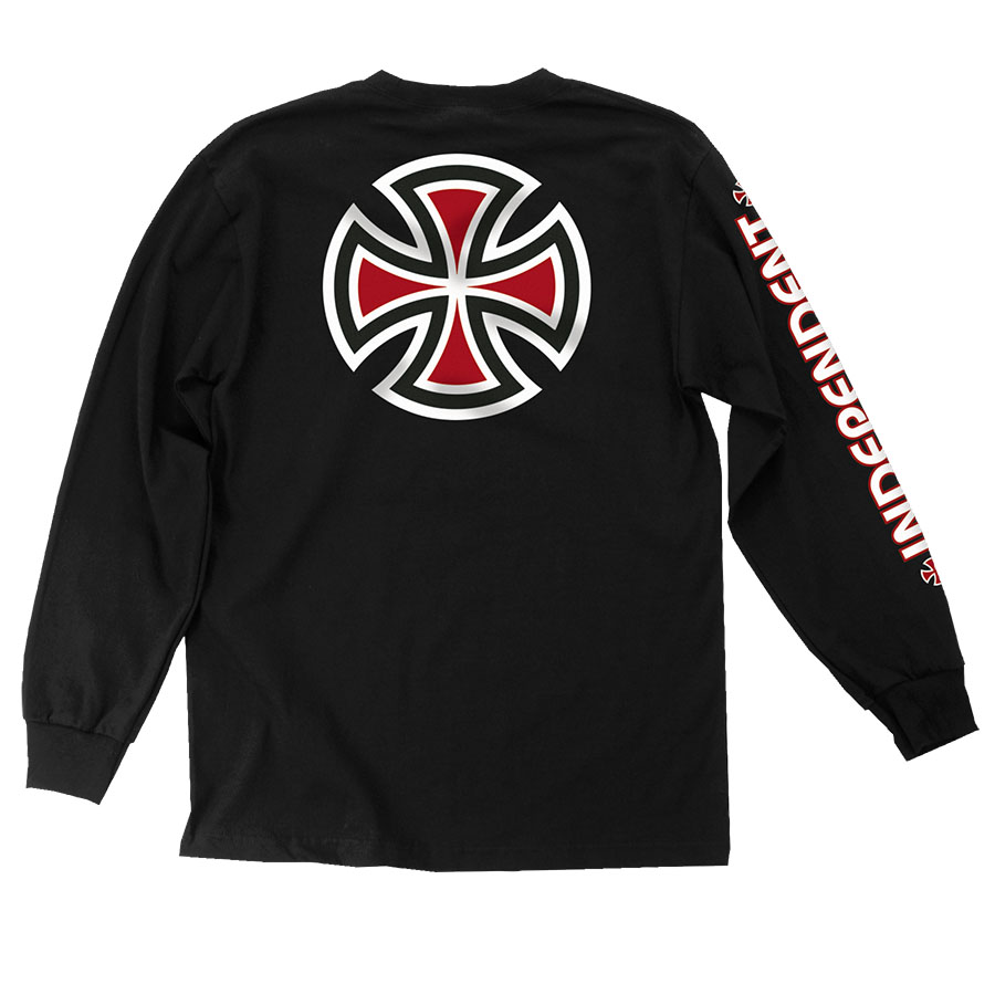BAR/CROSS SLEEVE L/S TEEBLACK