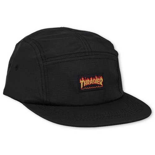 트레셔FLAME LOGO 5-PANEL HATBLACK