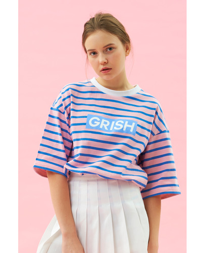 GRISH STRIPE T-SHIRT-(PURPLE)