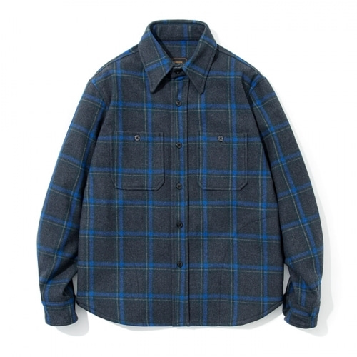 전화문의17fw wool CPO jacketgrey blue