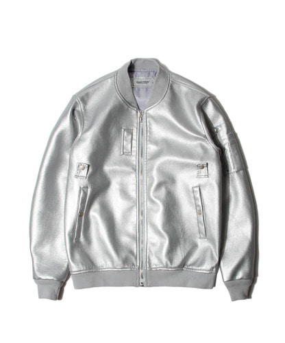 세인트페인SP BOSTON FLEATHER MA-1 JKT-SILVER