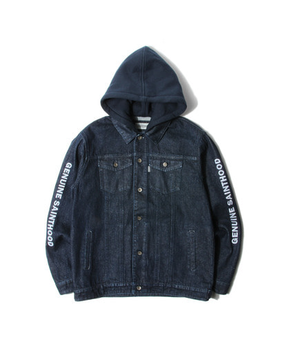 세인트페인SP BECKTON HOODED DENIM JKT-NAVY