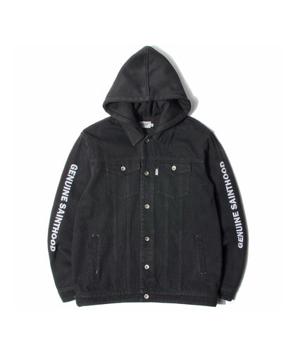 세인트페인SP BECKTON HOODED DENIM JKT-BLACK