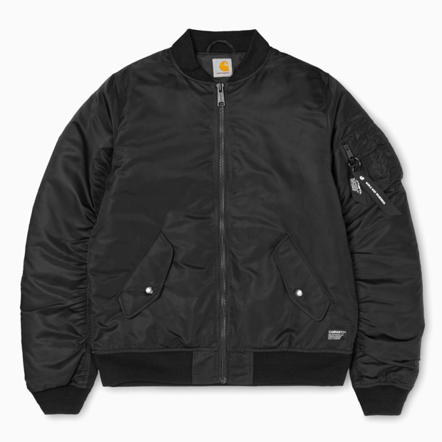 칼하트WIP애쉬톤 붐버자켓ASHTON BOMBER JACKETBLACK/BLACK