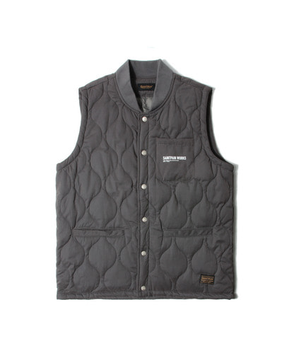 세인트페인SP HARROW QUILTED VEST-GRAY