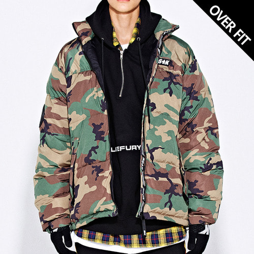 네스티킥[[NSTK] LIKE FURY PADDING JACKET (CAMO)