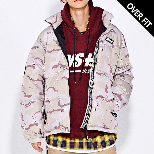 네스티킥[[NSTK] LIKE FURY PADDING JACKET (DESERTCAMO)