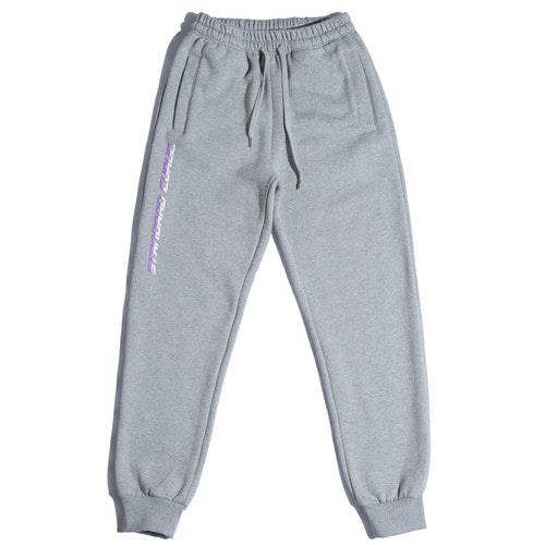 스탠다드커브STV. 17 FONT LOGO SWEAT PANTS GRAY