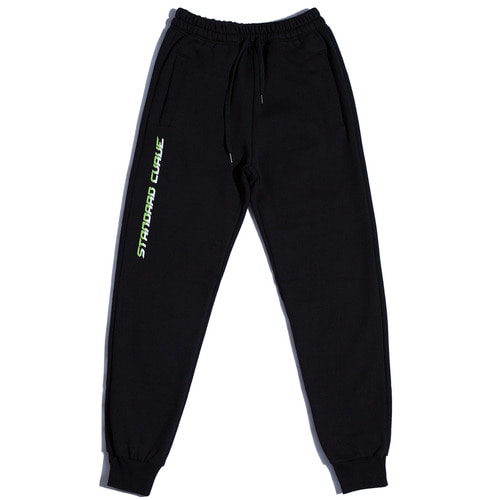 스탠다드커브STV. 17 FONT LOGO SWEAT PANTS BLACK
