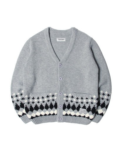 세인트페인SP TOMS NORDIC KNIT CARDIGAN-GRAY