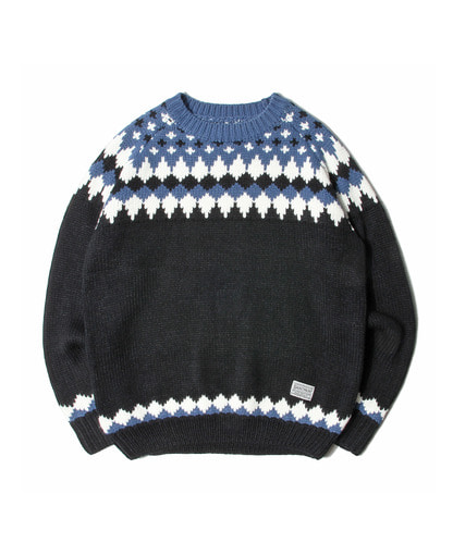세인트페인SP TOMS NORDIC KNIT SWEATER-BLACK
