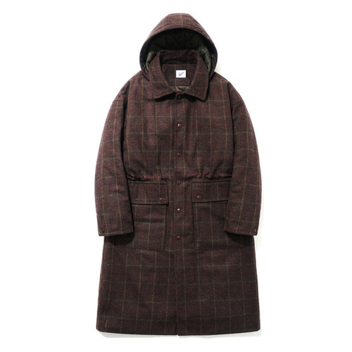 파르티멘토Hoody Check Long Coat