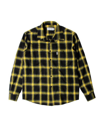 세인트페인SP LUFKIN CHECK SHIRT LS-YELLOW
