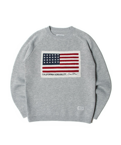 세인트페인SP AMERICAN KNIT SWEATER-GRAY