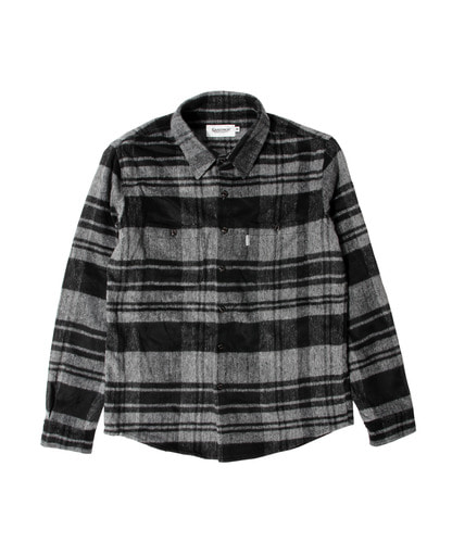 세인트페인SP GINGER WOOL CHECK SHIRT LS-BLACK