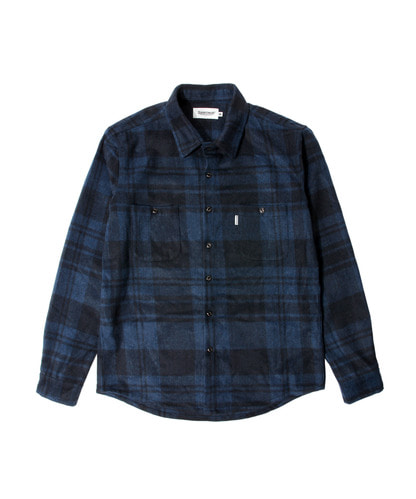 세인트페인SP GINGER WOOL CHECK SHIRT LS-BLUE