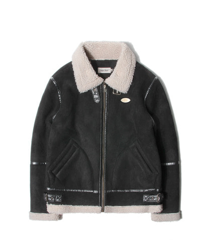 세인트페인SP HACKNEY SUEDE SHEARLING JKT-BLACK
